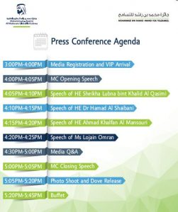 UAE Tolerance Awards Press Conference Agenda