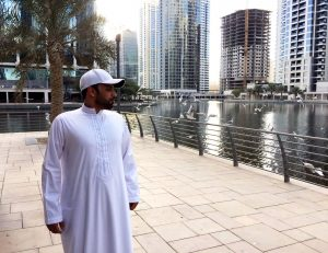 Red Sea's Adel Alhaimi takes time to appreciate the scenery - Jumeira Lake Towers