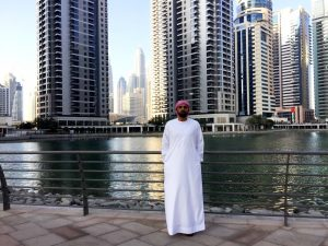 Adel takes a break during a recent UX conference in Dubai