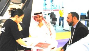 Adel Alhaimi on duty at Intersec 2017