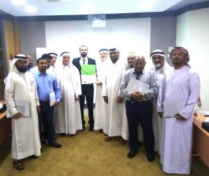 Adel Alhaimi with the Head of the Public Prosecution Department and Course Delegates