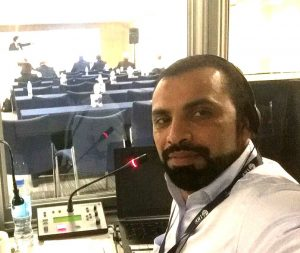 Adel in the booth - IRF MENA Congress