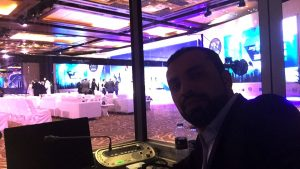 Adel Alhaimi in the Interpreter's booth - WAIPA Dubai Conference