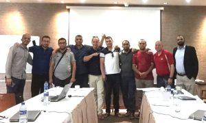 Adel with the trainers and delegates - National Oilwell Varco