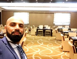 Adel Alhaimi getting set to interpret for Federal Authority for Identity and Citizenship