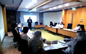Adel Alhaimi presenting Interpreter Course to members of Dubai Public Prosecution